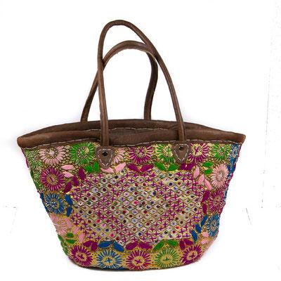 Orientalische Handtasche mit buntem Blumenmuster - CASAORIENT Stuttgart
