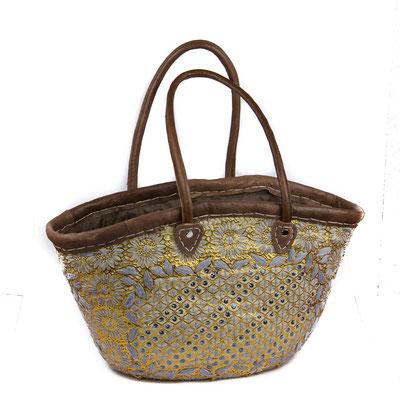 Orientalische Handtasche goldenem Blumenmuster - CASAORIENT Stuttgart