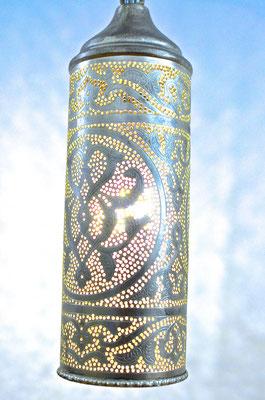 Ägyptische Silberlampe Zylinderform mit Muster - CASAORIENT Stuttgart