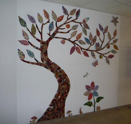 Fresque collective Ecole Lafayette - Ydes