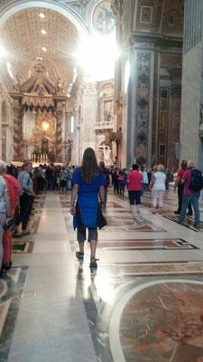 Der Petersdom: Für alle ein Highlight.