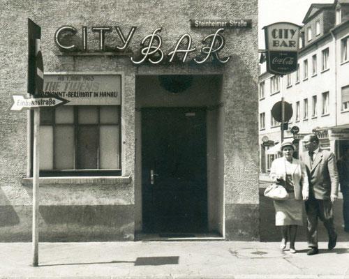 "Hanauer ""City Bar"" in der Krämerstraße"