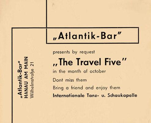"Konzert-Flyer der Hanauer ""Atlantik-Bar"" (Lamboystraße)"