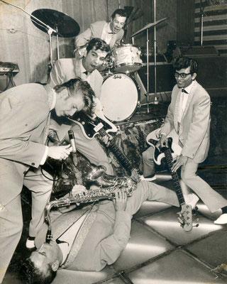 """Unbekannte Band in der Hanauer """"Moonlite-Bar"""""""
