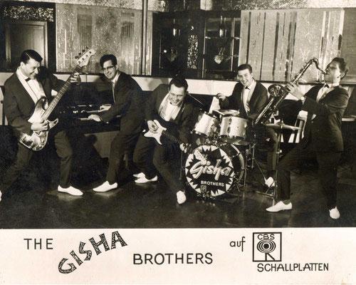 "Autogrammkarte der ersten Hanauer Rock´n´Roll-Band ""The Gisha Brothers"""