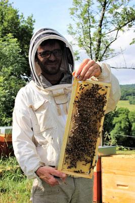 Il est content l'apiculteur !