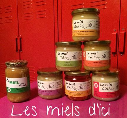 La gamme des miels d'ici