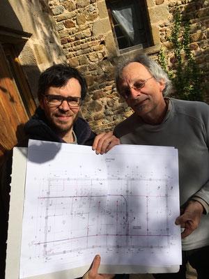 On continue de plancher sur les plans et le futur aménagement intérieur