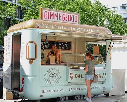 Mobiler Eiswagen Terrasse