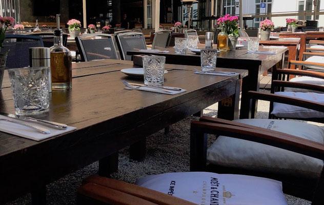 Stzmöbel für Gastronomie Terrasse