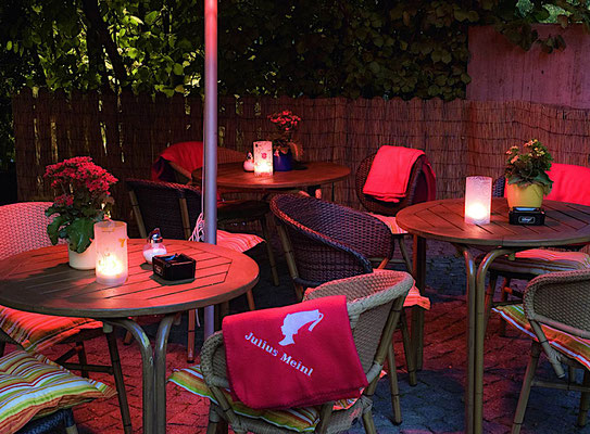 Decken für die Gastronomie Terrasse
