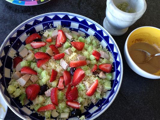 Erdbeer-Couscous