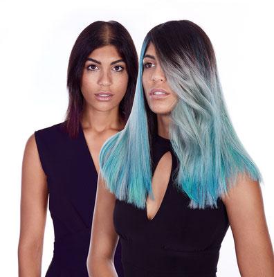 Vorher Nachher Haarverlängerung mit Farbe by GREAT LENGHTS // Salon Hemmelrath Mönchengladbach
