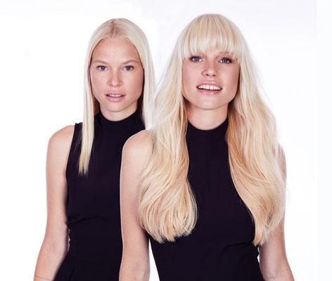 Vorher Nachher Haarverlängerung mit GREAT LENGHTS // Salon Hemmelrath Mönchengladbach