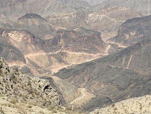 Blick ins Wadi Ghul