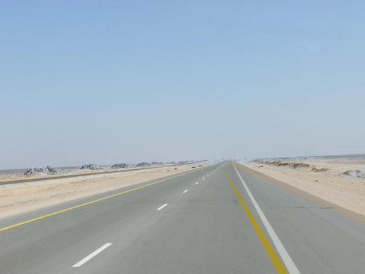 weiter durch die schier endlose Wüste