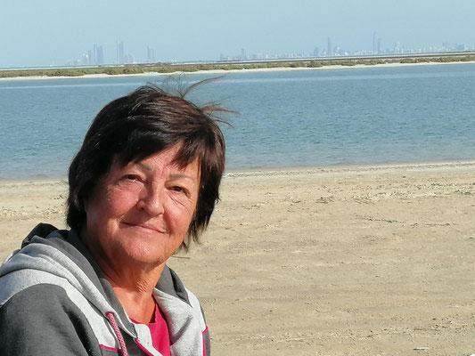 Strand am persischen Golf bei Abu Dhabi