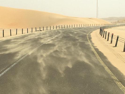 im Sandsturm unterwegs