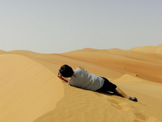 muss man sich schon mal in den Sand legen