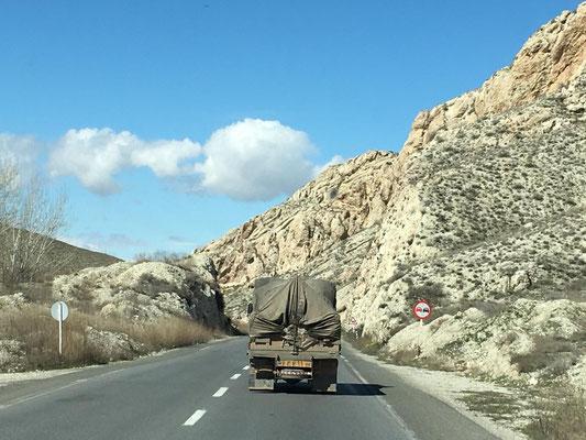 unterwegs zur türkischen Grenze