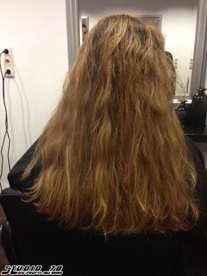 Kerasilk Keratin Haarglättung vorher