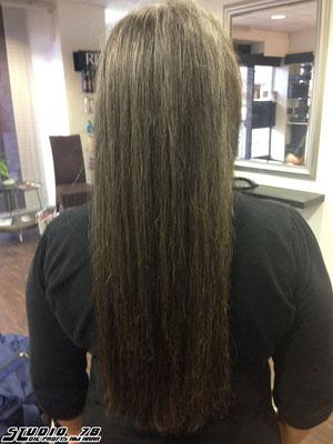 Kerasilk Keratin Haarglättung nachher