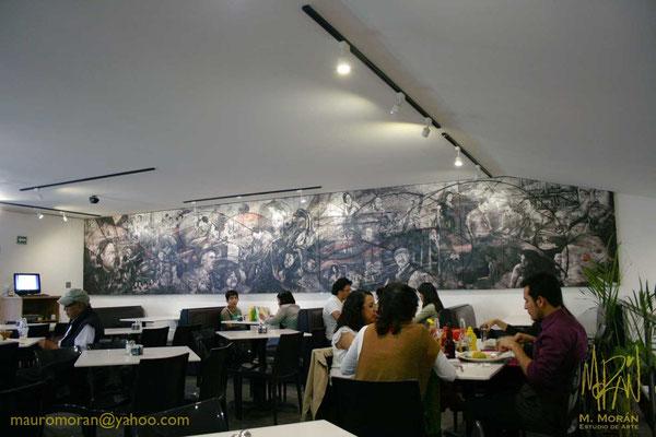 Mural de la Cineteca Nacional, Cafeteria Finca Santa Veracruz