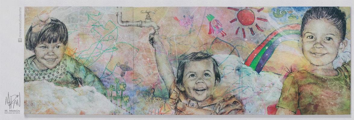 decoracion de la casa con fotos de mis hijos