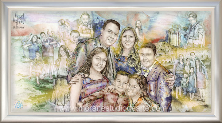El cuadro narra la historia de la familia