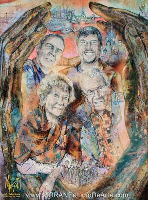 Un cuadro familiar une a la familia y decora la sala o comedor, es original