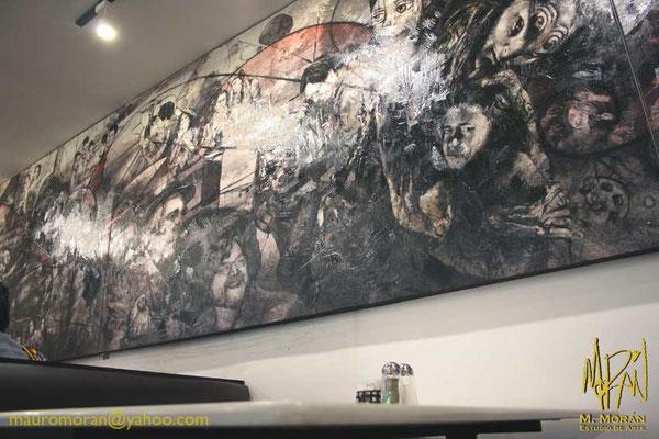 El laberinto del Fauno, Guillermo del Toro, Mural en la Cinetéca Nacional, 20 años de Cine en México, Cafeteria Finca Santa Veracruz