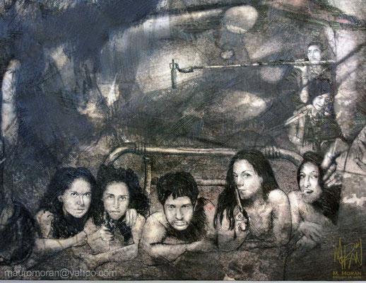 El tigre de Santa Julia, Alejandro Gamboa, Mural en la Cinetéca Nacional, 20 años de Cine en México