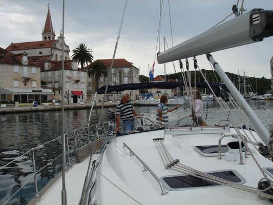 Auf der Yacht in Kroatien