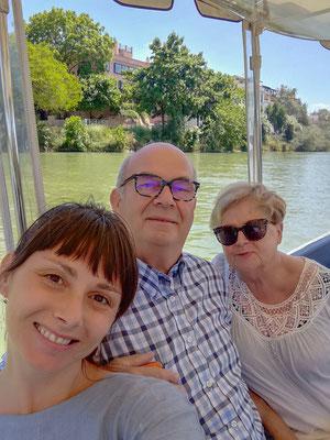 Visite guidée en bateau et à pied avec tapas Séville