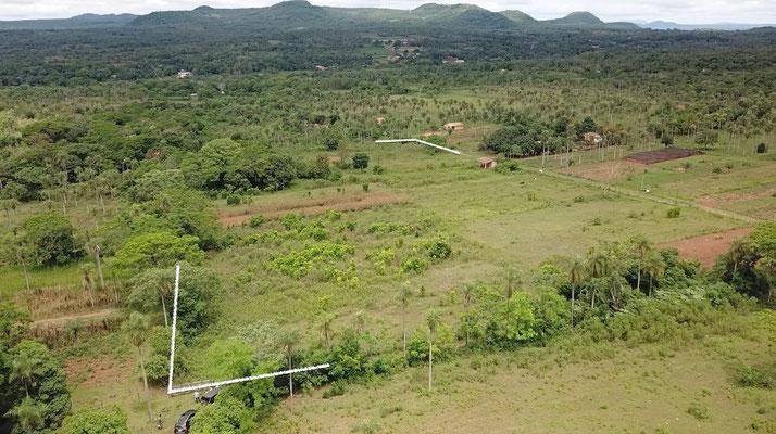 Grundstück von oben