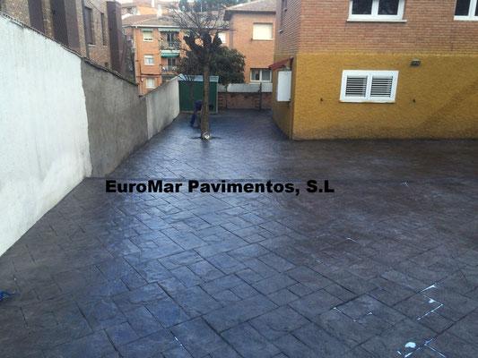 pavimento cemento impreso