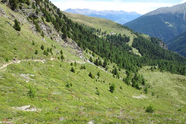 Hangtraverse nach der Furkelhütte (2 150 m)