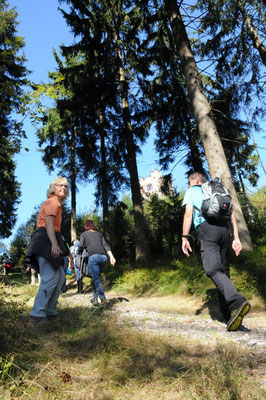 Der schwierigste Abschnitt: Aufstieg zum Wetzstein (792 m)