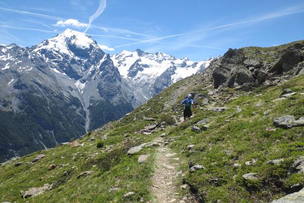 Prächtiges Bergpanorama beflügelt