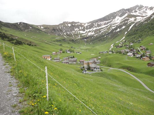 Talrunde im Zielort Malbun