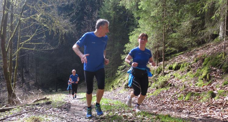 Langer Anstieg nach Eggenreuth