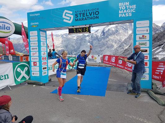 Stelvio-Marathon: Susi und Alex im Ziel