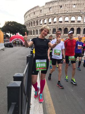 Susi beim Rom-Marathon