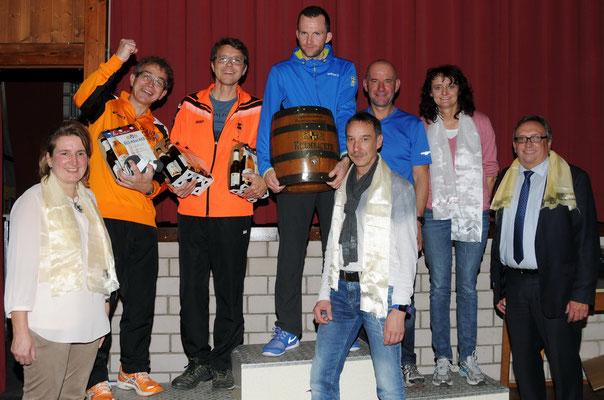 Siegerehrung mit Holzfass von der Kulmbacher Brauerei