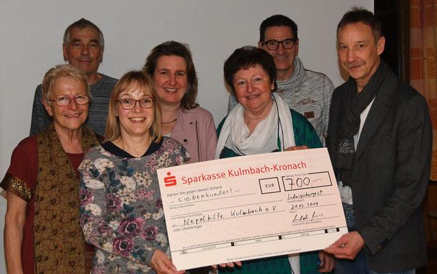 Spendenübergabe an Nepalhilfe Kulmbach