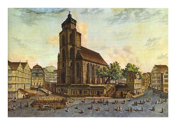 August Wiechard, Ansicht des Homberger Marktplatzes, um 1831, in: Historische Ortsansichten (https://www.lagis-hessen.de/de/subjects/idrec/sn/oa/id/1945) (Stand: 27.2.2019)