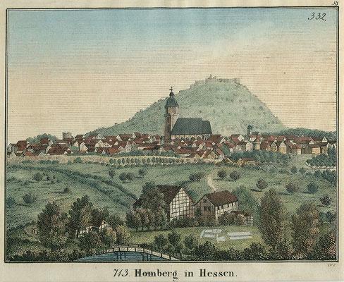 Droese, Ansicht von Homberg/Efze, um 1830, in: Historische Ortsansichten (https://www.lagis-hessen.de/de/subjects/idrec/sn/oa/id/1943) (Stand: 27.2.2019)