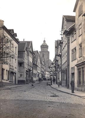Blick in die Westheimer Straße in Homberg (Efze), um 1910?, Sammlung Dr. Klaus Lambrecht