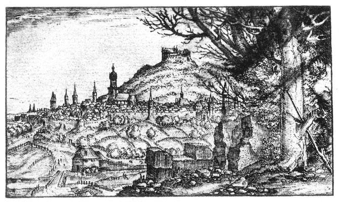 Wilhelm Dillich, Ansicht von Homberg/Efze, 1591, in: Historische Ortsansichten (https://www.lagis-hessen.de/de/subjects/idrec/sn/oa/id/1934) (Stand: 27.2.2019)