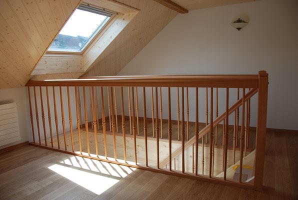 Rücklaufgeländer bei Treppe